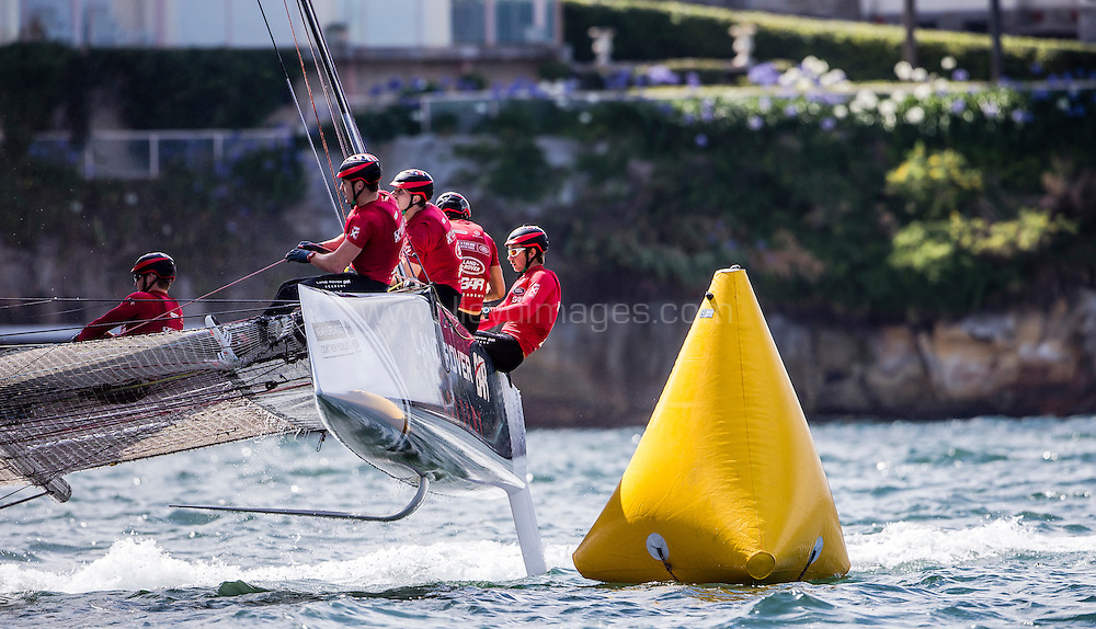 The Extreme sailing Series 2016. Act 8. Sydney. Australia . Practice day. Image licensed to Jesus Renedo