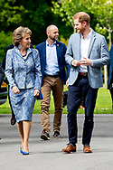 Prince Harry and Princess Margriet watch sports during the presentation of the Invictus Games The Hague 2020. In exactly one year, the sporting event for physically and mentally wounded soldiers will be held in Zuiderpark in The Hague. robin utrecht