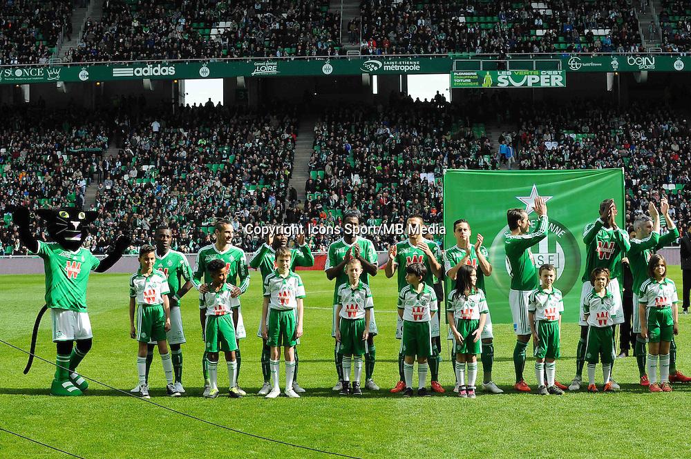 Equipe Saint Etienne - 08.03.2015 - Saint Etienne / Lorient - 28eme journee de Ligue 1<br /> Photo : Jean Paul Thomas / Icon Sport