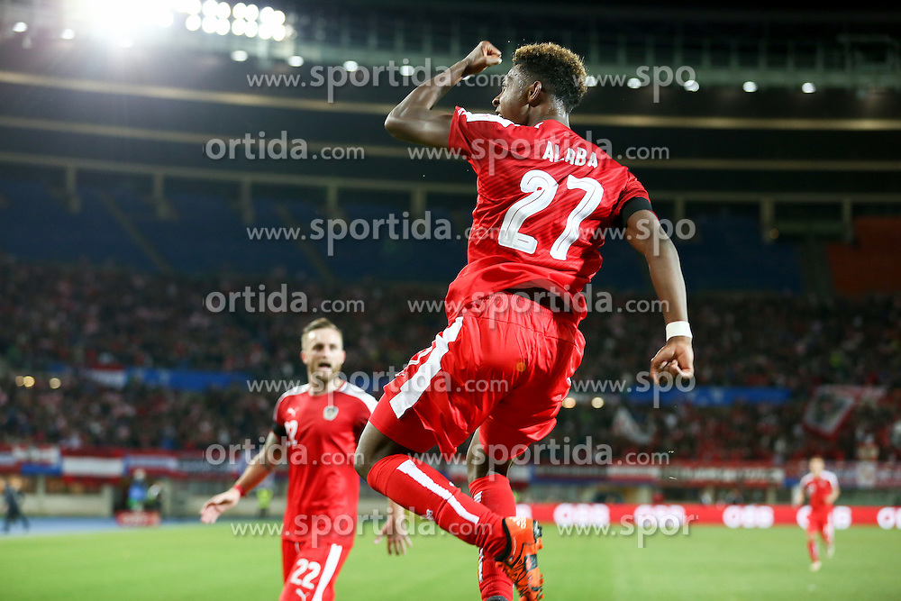 17.11.2015, Ernst Happel Stadion, Wien, AUT, Testspiel, Österreich vs Schweiz, im Bild Torjubel David Alaba (AUT) // Goal Celebration David Alaba (AUT) during the International Friendly Football Match between Austria and Switzerland at the Ernst Happel Stadion in Wien, Austria on 2015/11/17. EXPA Pictures © 2015, PhotoCredit: EXPA/ Alexander Forst