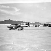 Studebaker's #6 Commander is shown at speed at the Bonneville Salt Flats, October, 1963.