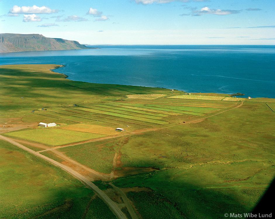 Miðfjarðarnes séð til norðurs, Finnafjörður, Skeggjastaðahreppur / Midfjardarnes viewing north over Finnafjordur. Skeggjastadahreppur.