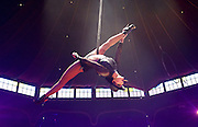 La Soiree<br /> at the La Soiree Spiegeltent, Southbank Centre, London, Great Britain <br /> press photocall<br /> 29th October 2015 <br /> <br /> <br /> <br /> Yammel Rodriguez <br /> aerial acrobatics <br /> <br /> <br /> <br /> Photograph by Elliott Franks <br /> Image licensed to Elliott Franks Photography Services