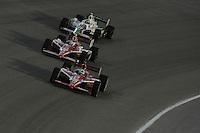 Dario Franchitti, Scott Dixon, Tony Kanaan, Cafes do Brasil Indy 300, Homestead Miami Speedway, Homestead, FL USA,10/2/2010