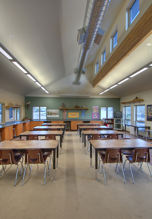 Interior photo of the Boise Foothills Center.