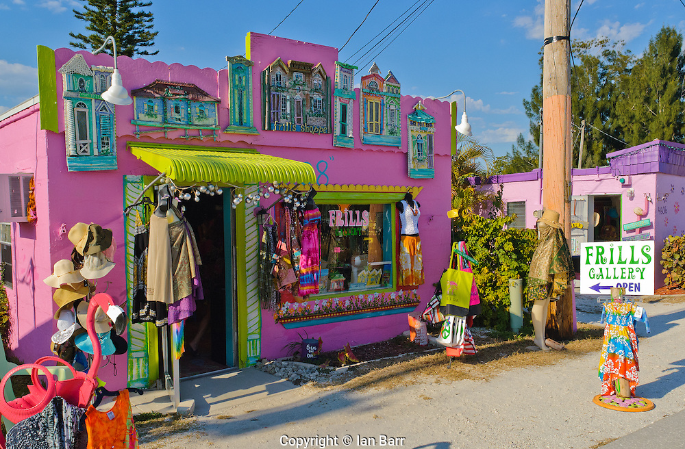 Shopping in Matlacha on Florida's Gulf coast islands.