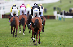 Runners and riders going to post before the RSA Insurance Novices' Chase during Ladies Day of the 2018 Cheltenham Festival at Cheltenham Racecourse. PRESS ASSOCIATION Photo. Picture date: Wednesday March 14, 2018. See PA story RACING Cheltenham. Photo credit should read: David Davies/PA Wire. RESTRICTIONS: Editorial Use only, commercial use is subject to prior permission from The Jockey Club/Cheltenham Racecourse.