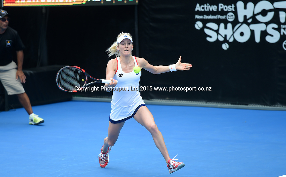 Poland's Urszuka Radwanska in action on Day 3 at the ASB Classic WTA International. Auckland, New Zealand. Wednesday 7 January 2015. Copyright photo: Andrew Cornaga/www.photosport.co.nz