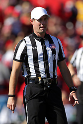 08 October 2016:  Referee Rich Edwards.  NCAA FCS Missouri Valley Football Conference Football game between Youngstown State Penguins and Illinois State Redbirds at Hancock Stadium in Normal IL (Photo by Alan Look)