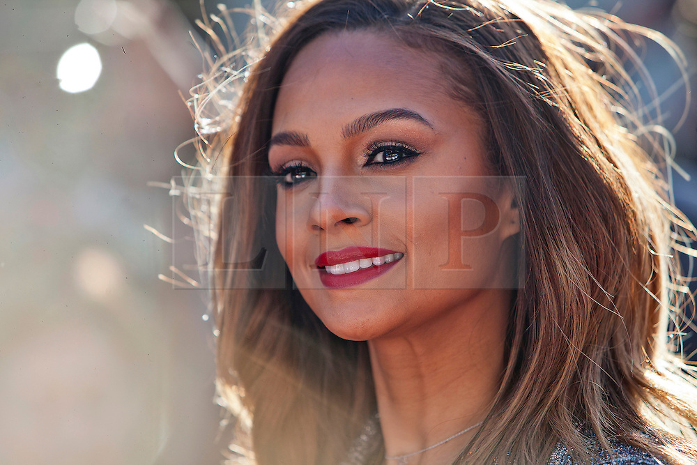 © Licensed to London News Pictures. 11/02/2014. London, UK. Alesha Dixon as she attends during Britain's Got Talent 2014 auditions outside the Hammersmith Apollo. Photo credit : Andrea Baldo/LNP