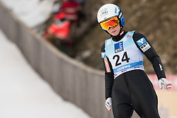 February 8, 2019 - Jacquueline Seifriedsberger of Austria on first competition day of the FIS Ski Jumping World Cup Ladies Ljubno on February 8, 2019 in Ljubno, Slovenia. (Credit Image: © Rok Rakun/Pacific Press via ZUMA Wire)