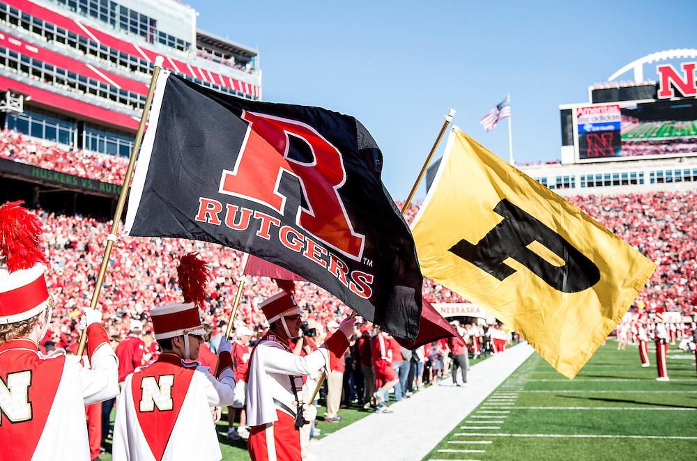 The Rutgers Scarlet Knights take on the Nebraska Cornhuskers at Memorial Stadium on Saturday afternoon, October 25, 2014.<br /> Ben Solomon/Rutgers Athletics