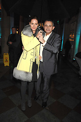 TRINNY WOODALL and her husband JONNY ELICHAOFF at a Winter Party to celebrate the opening of the Ice Rink at Somerset House, London in association with jewellers Tiffany on 20th November 2007.<br /><br />NON EXCLUSIVE - WORLD RIGHTS