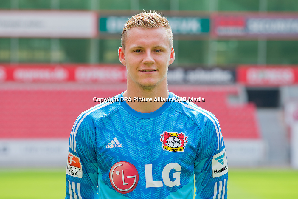 German Soccer Bundesliga - Photocall Bayer 04 Leverkusen on August 4th 2014: Goalkeeper Bernd Leno.
