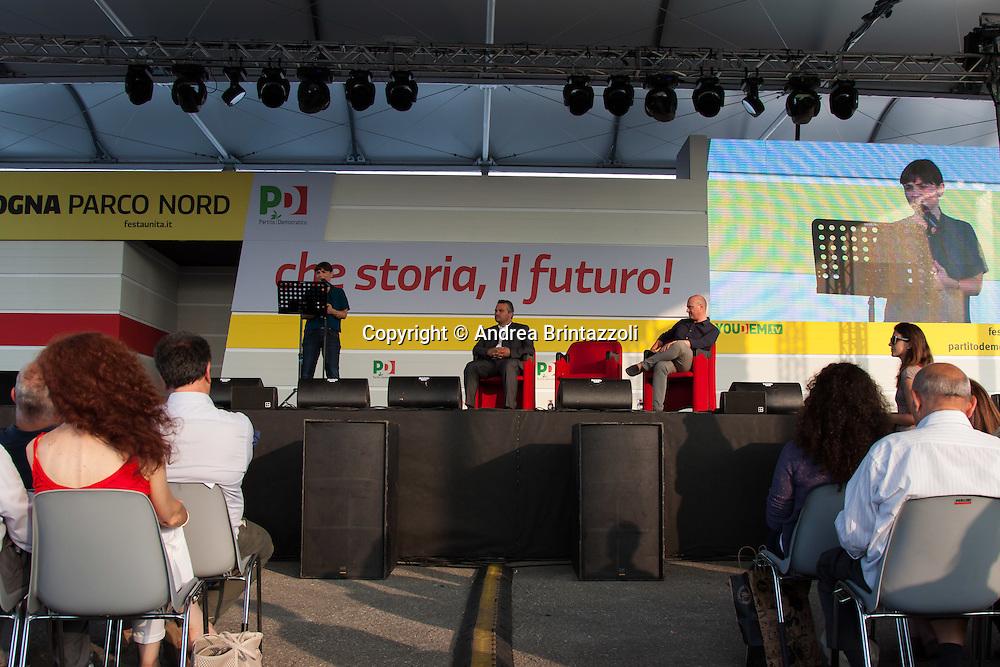 Bologna 27 Agosto 2014 - Inaugurazione Festa Nazionale de L'Unit&agrave;. Che storia, il futuro!<br /> Nella foto: Debora Serracchiani, Raffaele Donini, Stefano Bonaccini