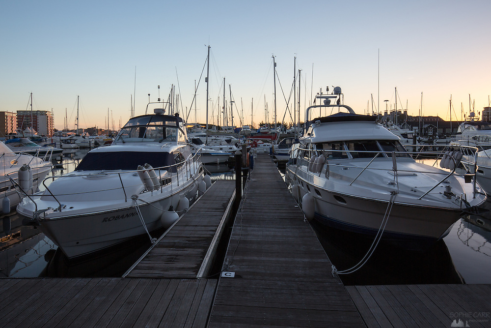 Sunset at Neptune Marina, Ipswich
