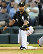CHICAGO - MAY 23:  Jose Abreu #79 of the Chicago White Sox fields against the Baltimore Orioles on May 23, 2018 at Guaranteed Rate Field in Chicago, Illinois.  (Photo by Ron Vesely)  Subject: Jose Abreu