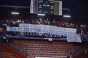 DESCRIZIONE : Milano Coppa Italia Final Eight 2013 Finale Cimberio Varese Montepaschi Siena<br /> GIOCATORE : Fortitudo Tifosi Fossa dei Leoni Striscione<br /> CATEGORIA : curiosita<br /> SQUADRA : Montepaschi Siena Cimberio Varese<br /> EVENTO : Beko Coppa Italia Final Eight 2013<br /> GARA : Cimberio Varese Montepaschi Siena<br /> DATA : 10/02/2013<br /> SPORT : Pallacanestro<br /> AUTORE : Agenzia Ciamillo-Castoria/M.Marchi<br /> Galleria : Lega Basket Final Eight Coppa Italia 2013<br /> Fotonotizia : Milano Coppa Italia Final Eight 2013 Finale Cimberio Varese Montepaschi Siena<br /> Predefinita :