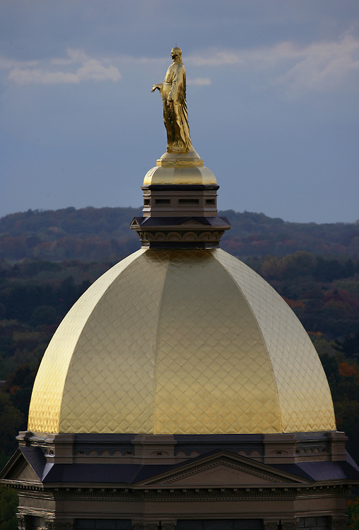 Golden Dome atop the Main Building..Photo by Matt Cashore..
