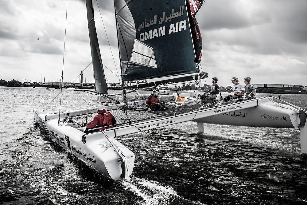 2015 Extreme Sailing Series - Act 5 - Hamburg.<br /> <br /> Credit Jesus Renedo.