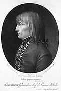 Napoleon Bonaparte (1769-1821) when General-in-Chief of the French Army in Italy. Engraving 1796.