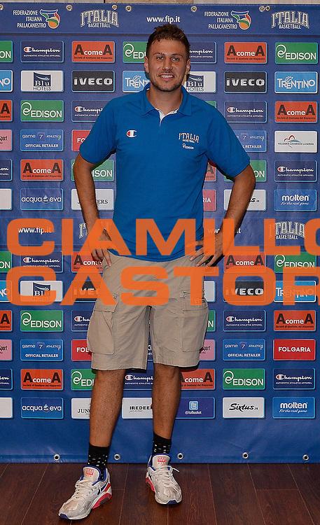 DESCRIZIONE : Media day nazionale italiana maschile<br /> GIOCATORE : Stefano Mancinelli<br /> CATEGORIA : <br /> SQUADRA :  Nazionale maschile<br /> EVENTO : Media day nazionale italiana maschile<br /> GARA : Media day nazionale italiana maschile<br /> DATA : 24/07/2013<br /> SPORT : Pallacanestro <br /> AUTORE : Agenzia Ciamillo-Castoria/R. Morgano<br /> Galleria : Nazionale italiana maschile 2013  <br /> Fotonotizia : Media day nazionale italiana maschile<br /> Predefinita :