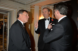 Left to right, KEITH PERRY, the HON.HARRY HERBERT and LAURENT FENIOU at the 26th Cartier Racing Awards held at The Dorchester, Park Lane, London on 8th November 2016.