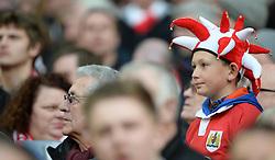 Bristol City fan inside Wembley Stadium.  - Photo mandatory by-line: Alex James/JMP - Mobile: 07966 386802 - 22/03/2015 - SPORT - Football - London - Wembley Stadium - Bristol City v Walsall - Johnstone Paint Trophy Final