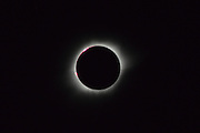 March 9, 2016 - Pekalongan, CENTRAL JAVA, INDONESIA - <br /> <br /> A view of the total solar eclipse captured from Donggala, Palu, Central Sulawesi, Indonesia, on March 9, 2016. The total eclipse of March 9, 2016 starts over the Indian Ocean, made landfall across Indonesia, including Sumatra, Borneo, and Sulawesi, Teluk Tomini and Halmahera in the Moluccas and then headed out over the north Pacific Ocean, to ended near the Hawaiian islands.<br /> ©Exclusivepix Media