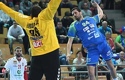 Mario Sostaric of Slovenia during friendly handball match between Slovenia and Srbija, on October 27th, 2019 in Športna dvorana Lukna, Maribor, Slovenia. Photo by Milos Vujinovic / Sportida
