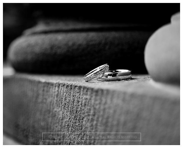 Detail shot of Wedding Rings.