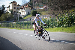 Jessy Duyts (Topsport Vlaanderen Etixx Cycling Team) descends in the first , short lap of Trofeo Alfredo Binda - a 123.3km road race from Gavirate to Cittiglio on March 20, 2016 in Varese, Italy.