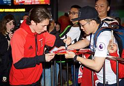 NANNING, CHINA - Saturday, March 24, 2018: Wales' Harry Wilson during a meet & greet event at the Nanning Wanda Mall during the 2018 Gree China Cup International Football Championship. (Pic by David Rawcliffe/Propaganda)