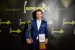 Dare Vrsic of NK Maribor, named best player during SPINS XI Nogometna Gala 2017 event when presented best football players of Prva liga Telekom Slovenije in season 2016/17, on May 23, 2017 in Grand hotel Union, Ljubljana, Slovenia. Photo by Vid Ponikvar / Sportida