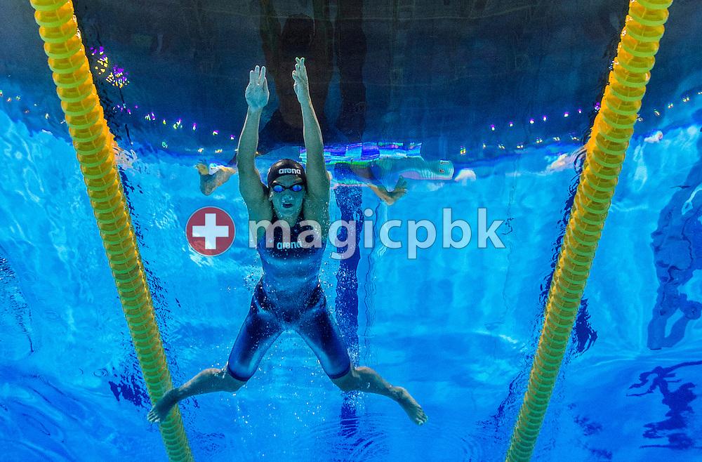 Yuliya (Iuliia) EFIMOVA (YEFIMOVA) of Russia competes in the women's 200m Breaststroke Heats during the 15th FINA World Aquatics Championships at the Palau Sant Jordi in Barcelona, Spain, Thursday, Aug. 1, 2013. (Photo by Patrick B. Kraemer / MAGICPBK)