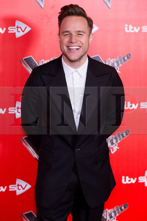 © Licensed to London News Pictures. 03/01/2018. London, UK. OLLIE MURS attends the Launch of The Voice UK 2018 press launch on ITV. Photo credit: Ray Tang/LNP