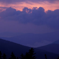 Appalachian Trail. Mahoosuc Mountains at sunrise.  Mahoosuc Arm, ME