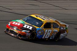 Mar 11, 2012; Las Vegas, NV, USA;  Sprint Cup Series driver Kyle Busch (18) during the Kobalt Tools 400 at Las Vegas Motor Speedway. Mandatory Credit: Jason O. Watson-US PRESSWIRE