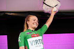 Emilie Moberg (NOR) retains the sprint jersey at Ladies Tour of Norway 2019 - Stage 3, a 125 km road race from Moss to Halden, Norway on August 24, 2019. Photo by Sean Robinson/velofocus.com