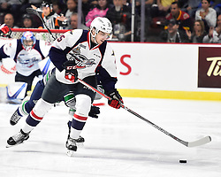 Julius Nattinen of the Windsor Spitfires in Game 3 of the 2017 MasterCard Memorial Cup against the Seattle Thunderbirds on Sunday May 21, 2017 at the WFCU Centre in Windsor, ON. Photo by Aaron Bell/CHL Images