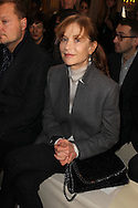 PARIS, FRANCE - MARCH 05:  Isabelle Huppert attends the Stella McCartney Ready-To-Wear Fall/Winter 2012 show as part of Paris Fashion Week on March 5, 2012 at the City Hall in Paris, France.  (Photo by Tony Barson/WireImage)