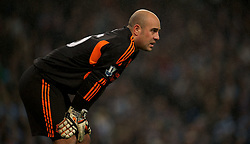 11.01.2012, Etihad Stadion, Manchester, ENG, Carling Cup, Manchester City vs FC Liverpool, Halbfinale, im Bild Liverpool's goalkeeper Jose Reina in action against Manchester City during the football match of English Carling Cup, Halffinal, between Manchester City and FC Liverpool at Etihad Stadium, Manchester, United Kingdom on 2012/01/11. EXPA Pictures © 2012, PhotoCredit: EXPA/ Propagandaphoto/ David Rawcliff..***** ATTENTION - OUT OF ENG, GBR, UK *****