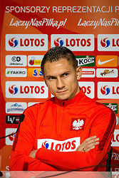 25.03.2016, Stadium Municipal, Wroclaw, POL, Pressekonferenz Fußballnationalmannschaft Polen, im Bild Artur Jedrzejczyk // during a press conference of Polish national football team before tomorrow friendly match between Poland and Finland at the Stadium Municipal in Wroclaw, Poland on 2016/03/25. EXPA Pictures © 2016, PhotoCredit: EXPA/ Newspix/ Sebastian Borowski<br /> <br /> *****ATTENTION - for AUT, SLO, CRO, SRB, BIH, MAZ, TUR, SUI, SWE only*****
