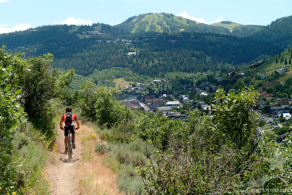 riding Lost Prospector trail above Park City, Utah during Endurance100 (e100) race