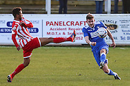 Shaun Bammant of Lowestoft Town (right) during the Conference North match at St. James Park, Brackley<br /> Picture by David Horn/Focus Images Ltd +44 7545 970036<br /> 24/01/2015