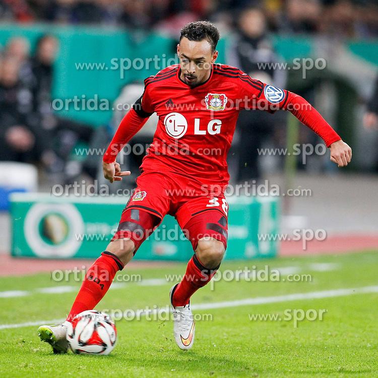 03.03.2015, BayArena, Leverkusen, GER, DFB Pokal, Bayer 04 Leverkusen vs 1. FC Kaiserslautern, Achtelfinale, im Bild Karim Bellarabi (Bayer 04 Leverkusen #38) // during German DFB Pokal last sixteen match between Bayer 04 Leverkusen and 1. FC Kaiserslautern at the BayArena in Leverkusen, Germany on 2015/03/03. EXPA Pictures &copy; 2015, PhotoCredit: EXPA/ Eibner-Pressefoto/ Schueler<br /> <br /> *****ATTENTION - OUT of GER*****