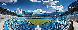 CHARLOTTE, USA - Saturday, July 21, 2018: A general view of the Bank of America Stadium ahead of a preseason International Champions Cup match between Borussia Dortmund and Liverpool FC. (Pic by David Rawcliffe/Propaganda)