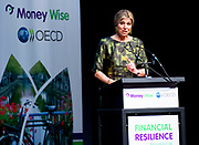 "Koningin Maxima houdt woensdag 20 april de openingstoespraak bij het tweedaagse symposium 'The Netherlands-OECD Global Symposium on Financial Resilience Throughout Life' in de Beurs van Berlage in Amsterdam. Deze conferentie is een initiatief van het International Network on Financial Education (INFE) van de Organisatie voor Economische Samenwerking en Ontwikkeling (OESO) en platform Wijzer in geldzaken. <br /> <br /> Queen Maxima hold Wednesday, April 20 the opening speech at the two-day symposium ""The Netherlands-OECD Global Symposium on Financial Resilience Throughout Life 'at the Beurs van Berlage in Amsterdam. This conference is an initiative of the International Network on Financial Education (INFE) of the Organisation for Economic Co-operation and Development (OECD) and platform Wiser in money matters. <br /> <br /> Op de foto / On the Photo:  Koningin Maxima tijdens haar openingsspeech in de Beurs van Berlage / Queen Maxima during her opening speech at the Beurs van Berlage"
