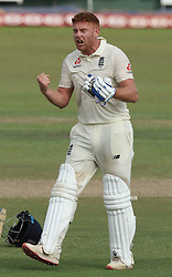 November 23, 2018 - Colombo, Sri Lanka - England cricketer Jonny Bairstow celebrates after scoring 100 runs during the 1st day's play in the 3rd and final test cricket match between England and Sri Lanka at SSC international cricket ground, Colombo, Sri Lanka. 11-23-2018  (Credit Image: © Tharaka Basnayaka/NurPhoto via ZUMA Press)