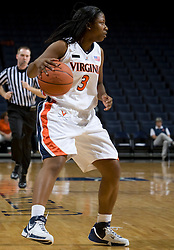 Virginia Cavaliers G Paulisha Kellum (3)..The Virginia Cavaliers women's basketball team faced Team Concept in an exhibition basketball game at the John Paul Jones Arena in Charlottesville, VA on November 5, 2007.